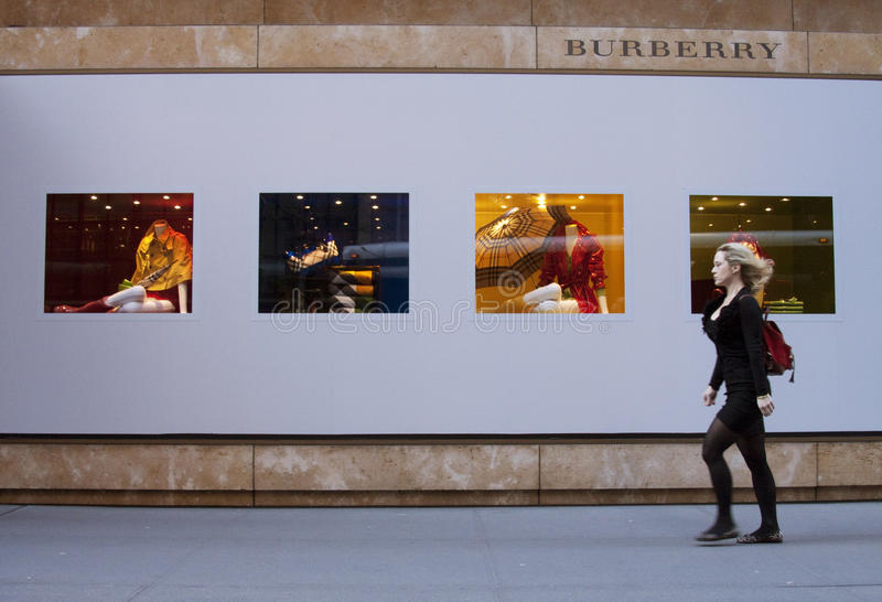 Magasin de Burberry photographie stock libre de droits
