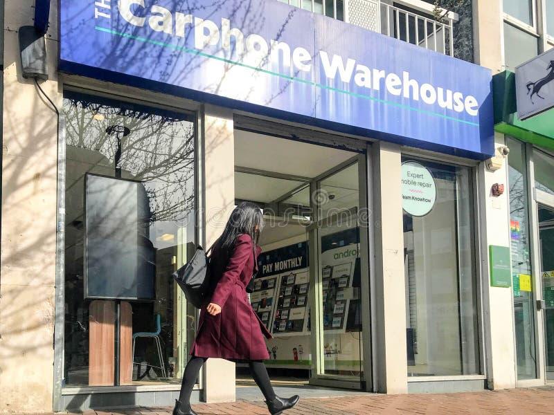 Magasin de Carphone Warehouse image stock