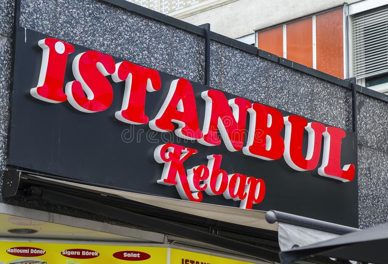 Magasin de chiche-kebab d'Istanbul image stock