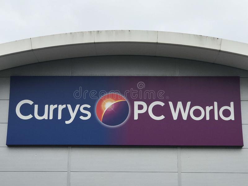 Magasin de Currys PC World image stock