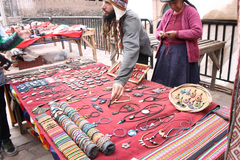 Magasin de Cusco photo libre de droits