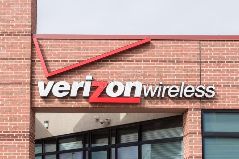 Magasin de détail de Verizon Wireless photographie stock libre de droits