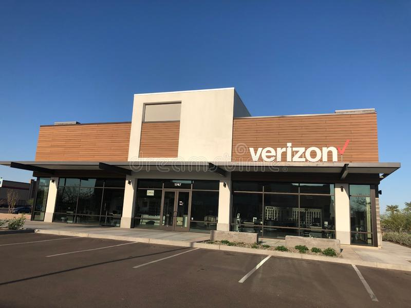Magasin de détail de Verizon Wireless image libre de droits
