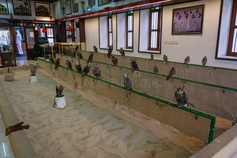 Magasin de faucon au faucon Souq dans Doga, Qatar photos stock