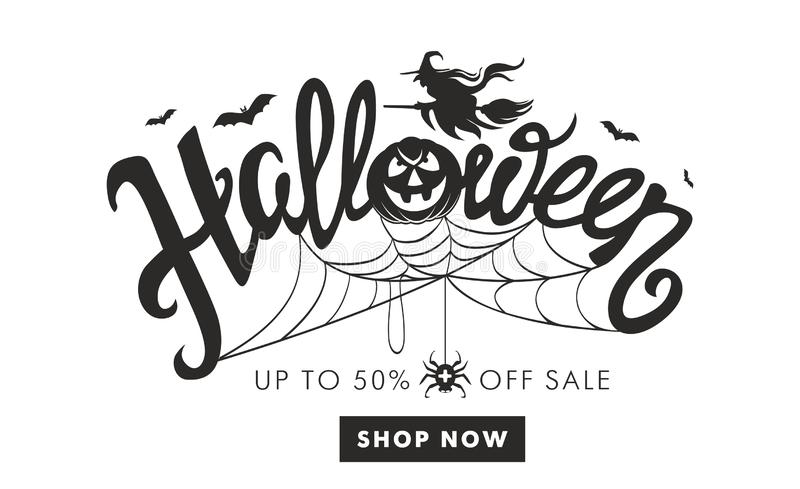 Magasin de Halloween maintenant illustration stock