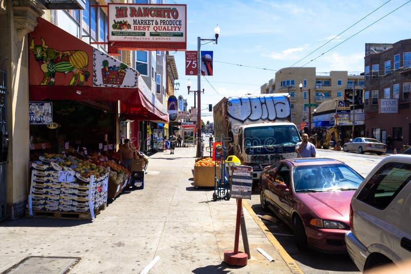 Magasin de légume et de fruits à San Francisco photos libres de droits