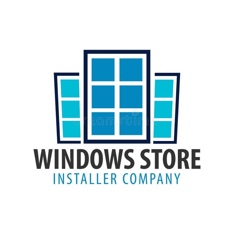 Magasin de Logo Windows Société d'installateur Illustration de vecteur illustration de vecteur