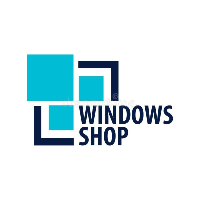 Magasin de Logo Windows Société d'installateur Illustration de vecteur illustration stock