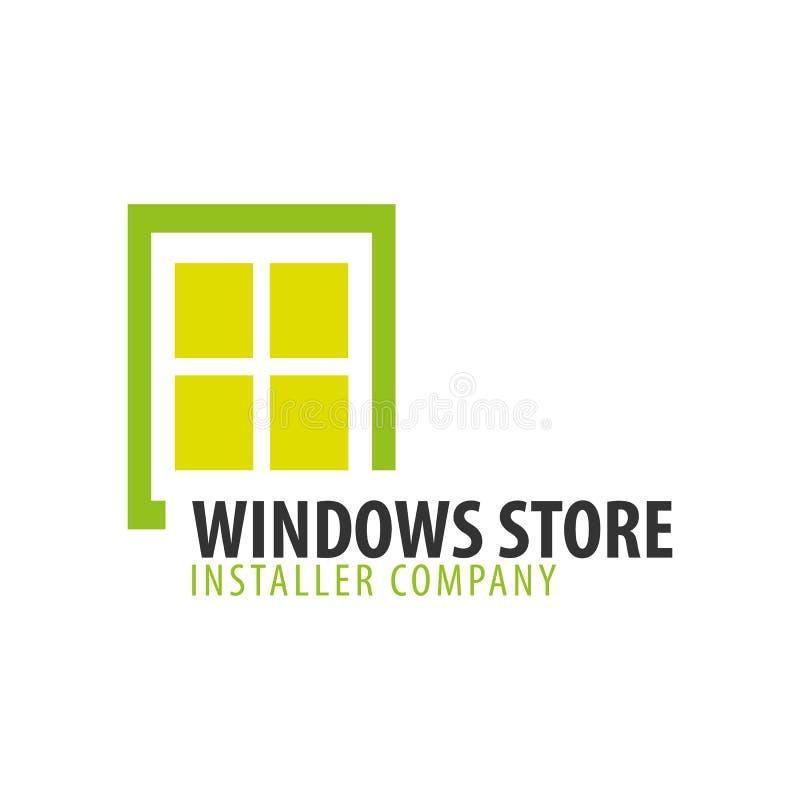 Magasin de Logo Windows Société d'installateur Illustration de vecteur illustration libre de droits