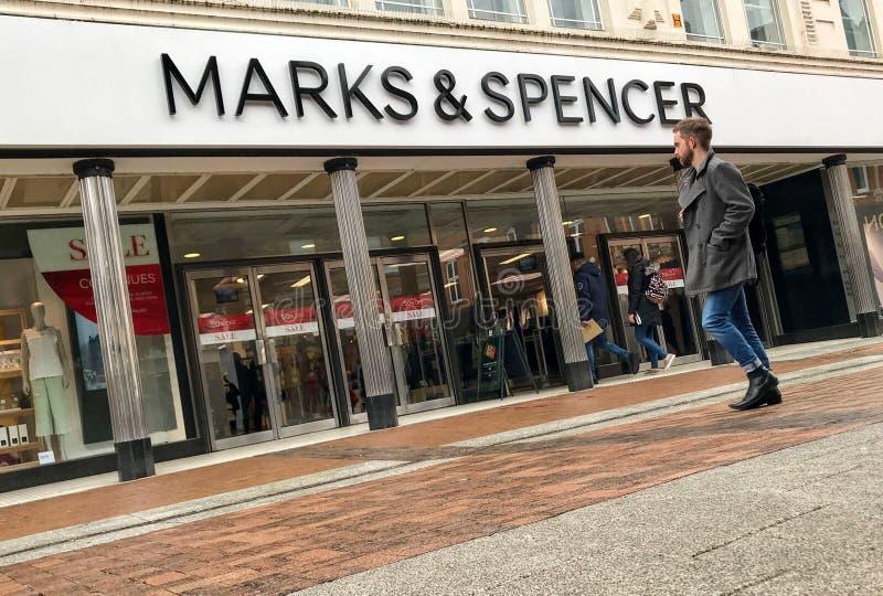 Magasin de marques et de Spencer photo stock