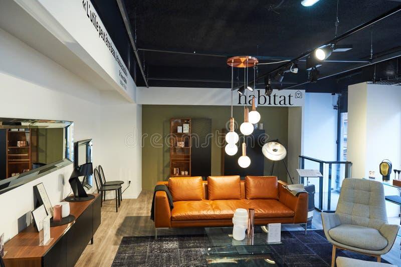 magasin de meubles d 39 habitat photo ditorial image 72356921. Black Bedroom Furniture Sets. Home Design Ideas