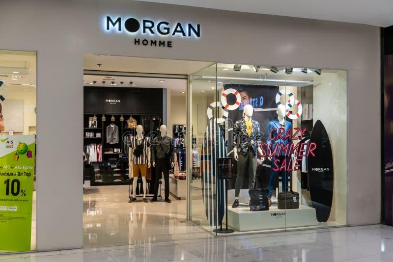 Magasin de Morgan chez Emquatier, Bangkok, Thaïlande, le 25 avril 2019 : Affichage de luxe et à la mode de fenêtre de marque photo libre de droits