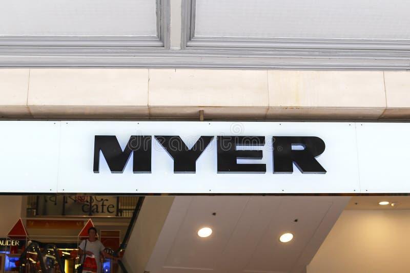 Magasin de Myer photo libre de droits
