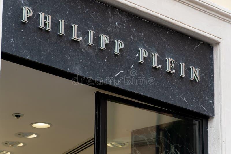 Magasin de Philipp Plein photographie stock libre de droits
