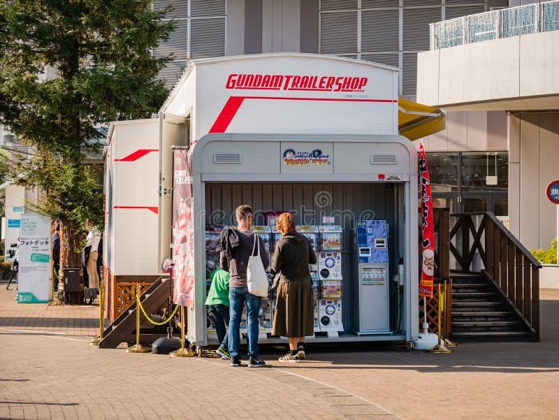 Magasin de remorque de Gundam, magasin officiel de Gundam à la plaza de ville de plongeur photos libres de droits