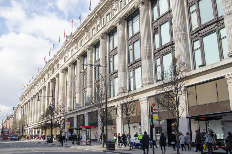 Magasin de Selfridges, Londres image stock