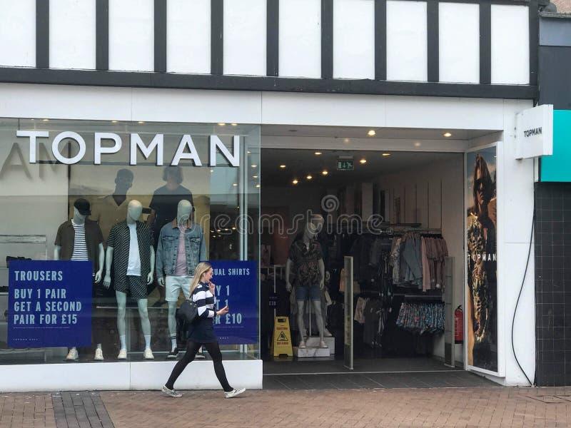 Magasin de Topman à Londres images stock
