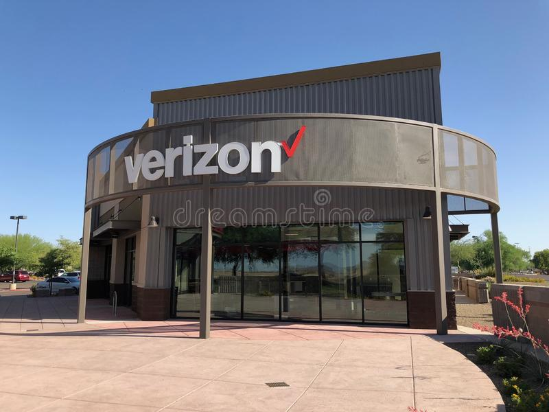 Magasin de Verizon photo stock