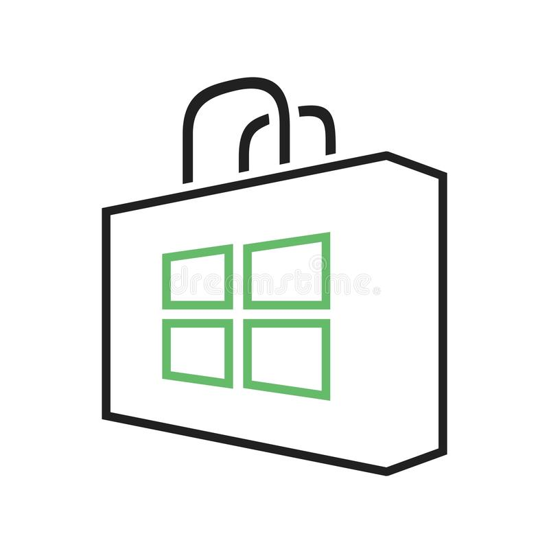 Magasin de Windows illustration stock