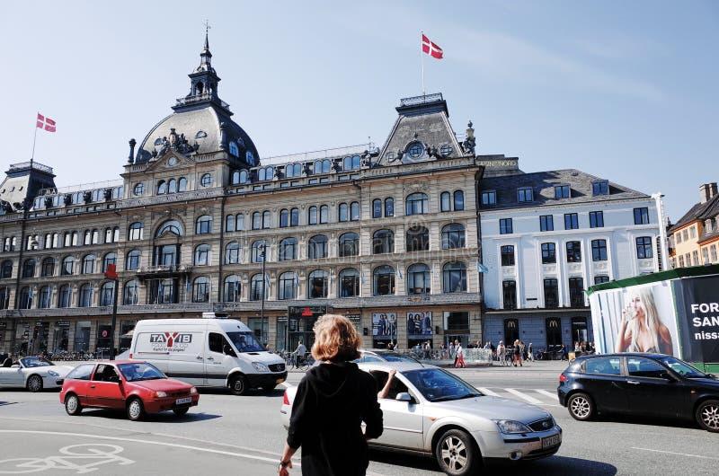 Magasin du Nord em Kongens Nytorv, COPENHAGA, DINAMARCA fotos de stock royalty free