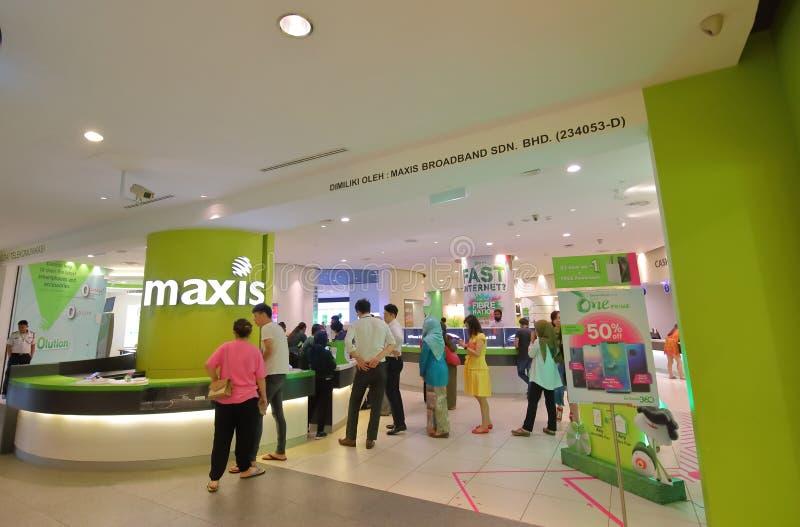Magasin Kuala Lumpur Malaysia de téléphone portable photos stock