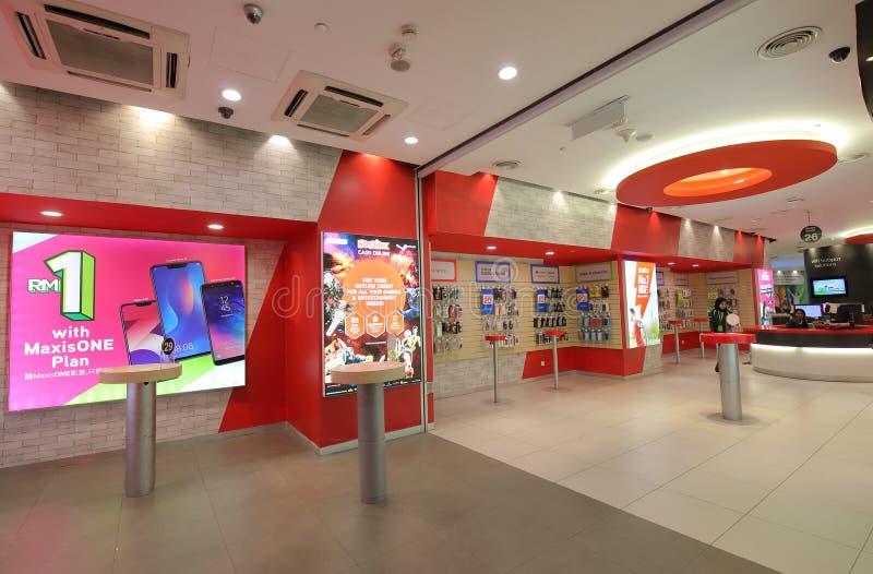 Magasin Kuala Lumpur Malaysia de téléphone portable photo libre de droits