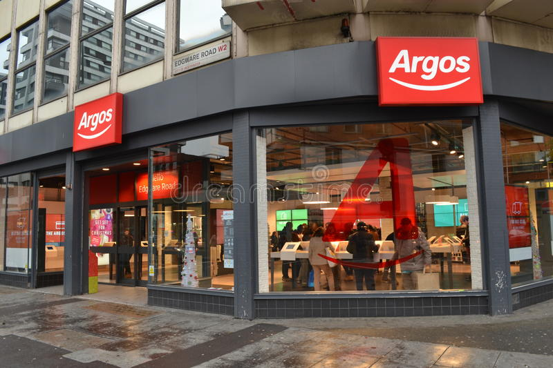 Magasin Londres d'Argos photo stock