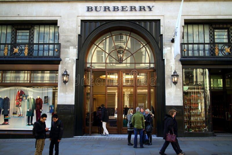 Magasin Londres de Burberry image stock