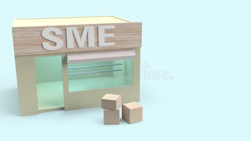 Magasinez et décochez pour transporter le rendu 3d pour un même concept illustration stock