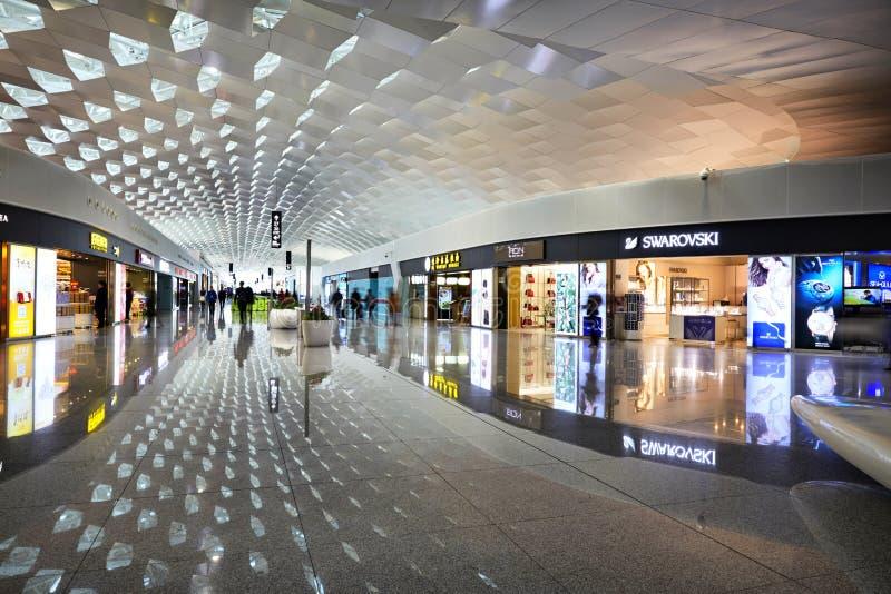 Magasins d'achats d'aéroport, Chine photo stock