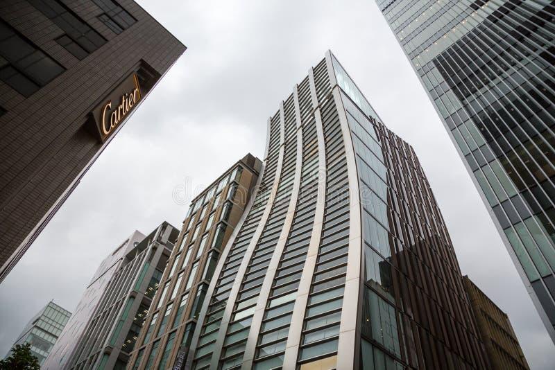 Magasins de Cartier et de Beers à Tokyo image libre de droits