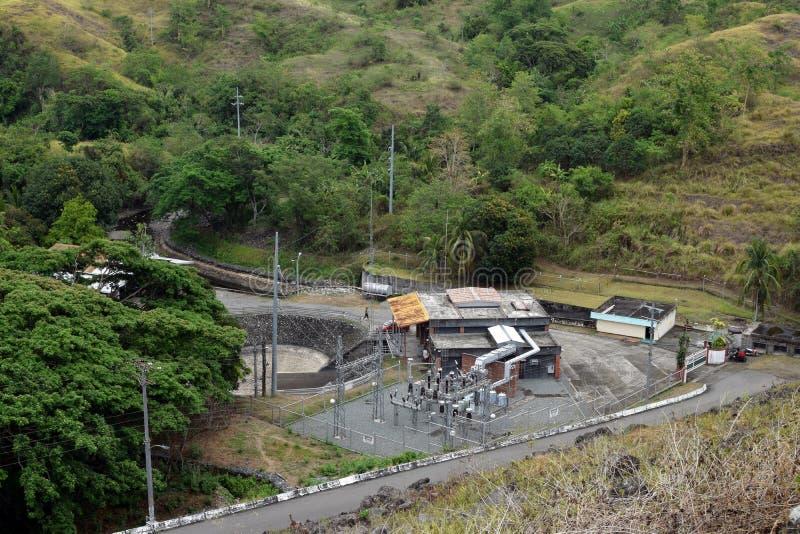 Magat River Mini Hydro Electric Power generation plant in mountainous Cordillera stock image