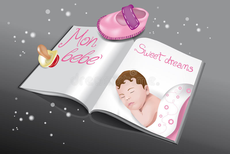 Download Magazine for babies-girl stock vector. Image of peaceful - 25551849