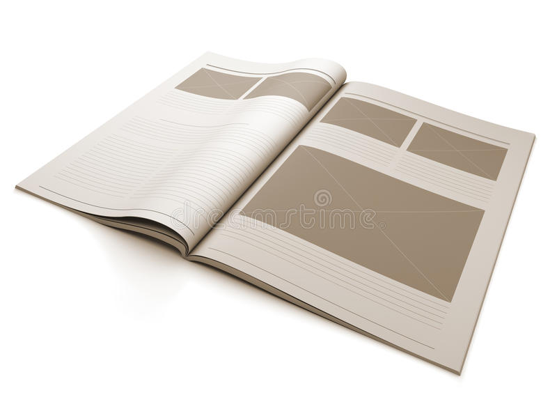 Download Magazine Blank Page For Design Layout Stock Images - Image: 21571744