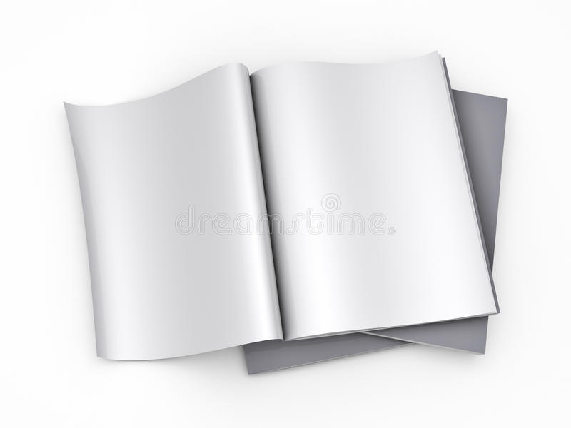 Magazine blank page template vector illustration