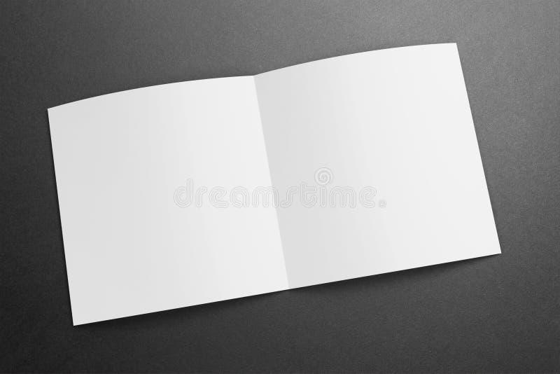 Magazine/brochure carrées vides sur le fond grunge illustration de vecteur