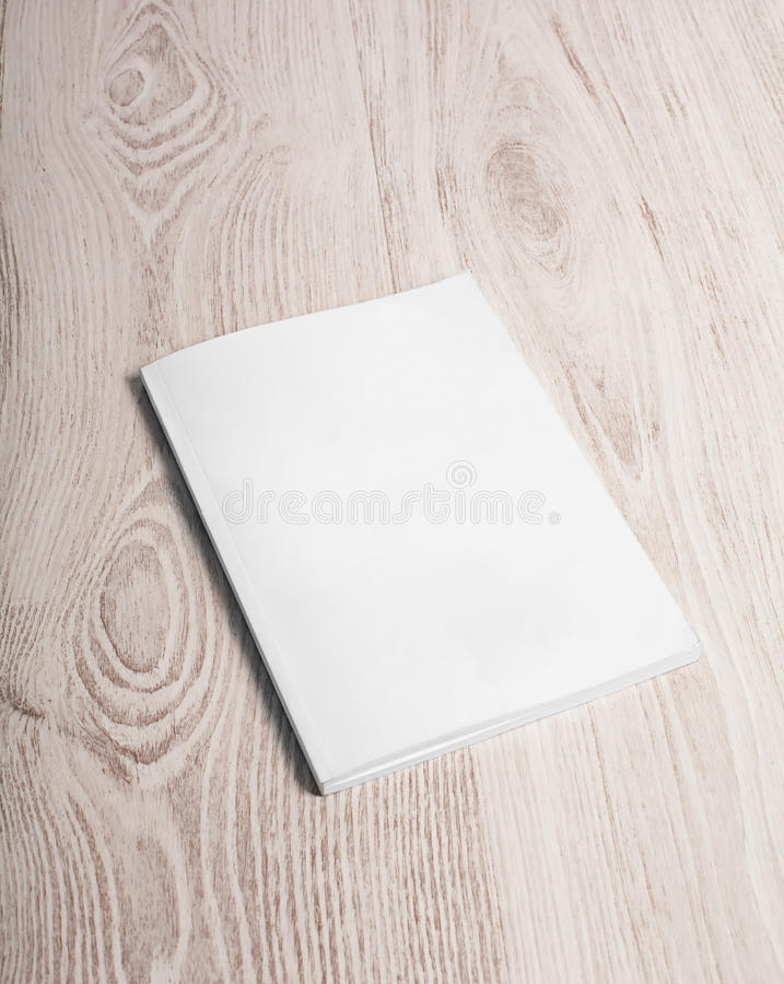 Magazine cover with blank page stock photos
