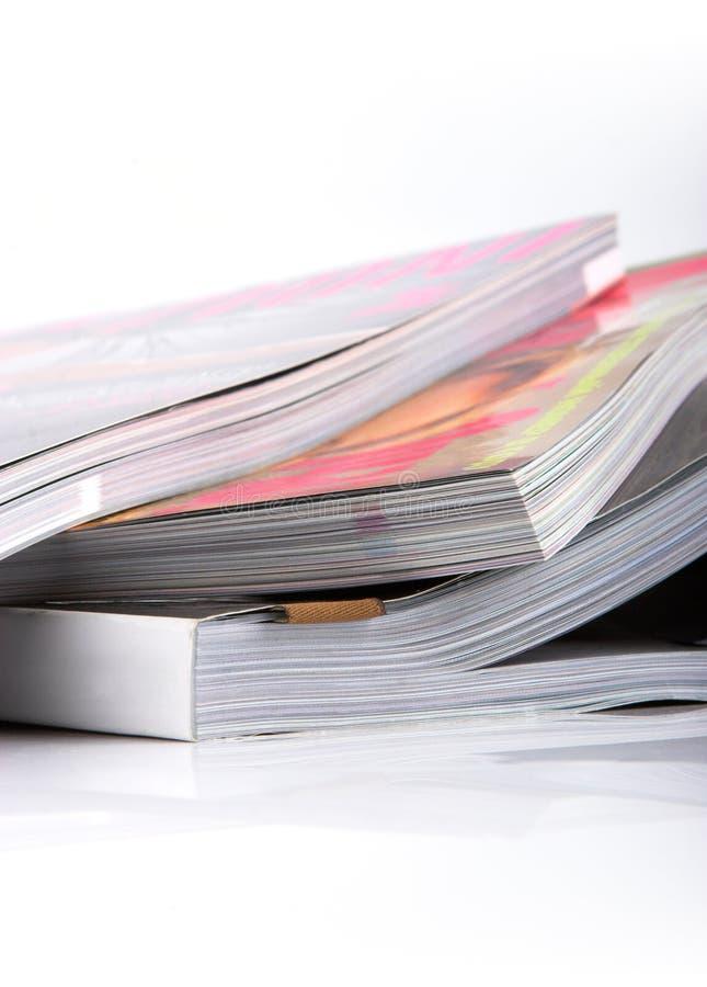 Magazine en papier glacé images libres de droits