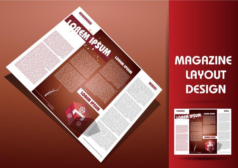 Download Magazine Illustration Design Layout Stock Vector - Image: 23027577