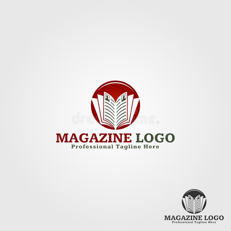Magazine Logo Template illustration libre de droits