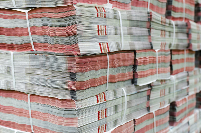 Magazine, newspaper production. And printing process stock image