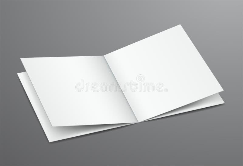 Magazine ouverte de brochure de blanc vide illustration de vecteur