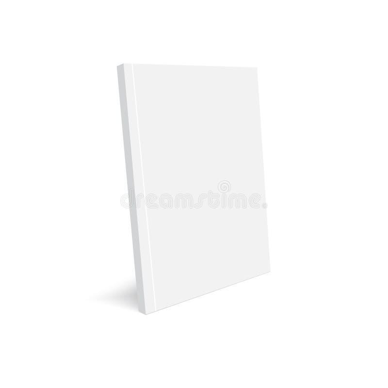 Magazine ouverte par maquette sur le blanc Vecteur illustration libre de droits