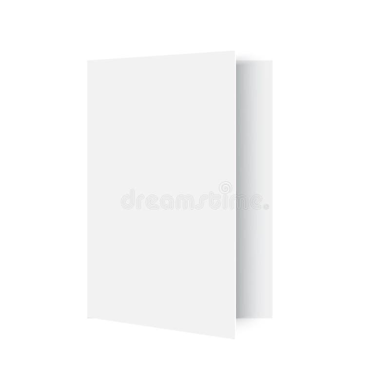 Magazine ouverte par maquette sur le blanc Vecteur illustration de vecteur