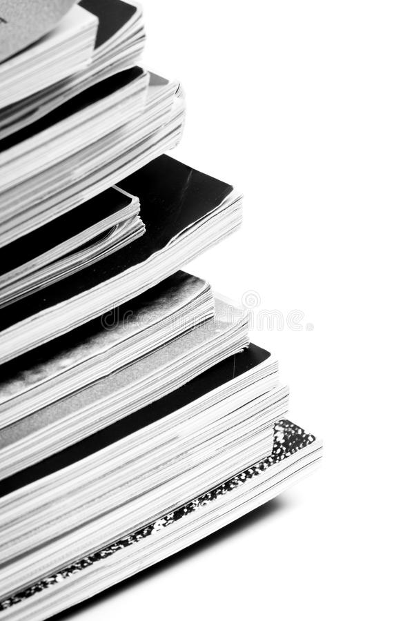 Magazine pages up close royalty free stock photo