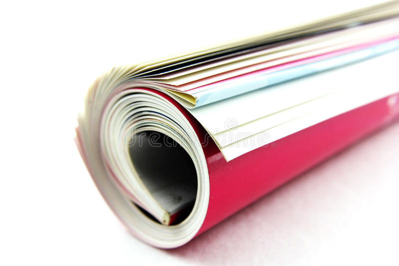 Magazine. Roll on white background royalty free stock images