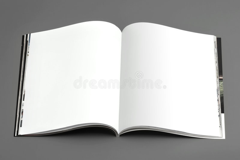 Magazine's pages (broadside) royalty free stock photography