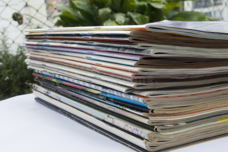 Download Magazine stack stock photo. Image of home, closed, bunch - 3982456