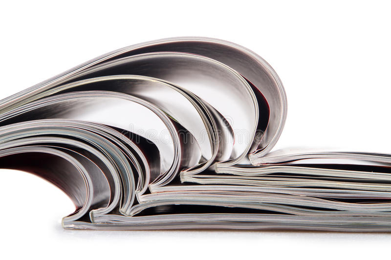 Magazines. Photo of the stacked magazines royalty free stock photography