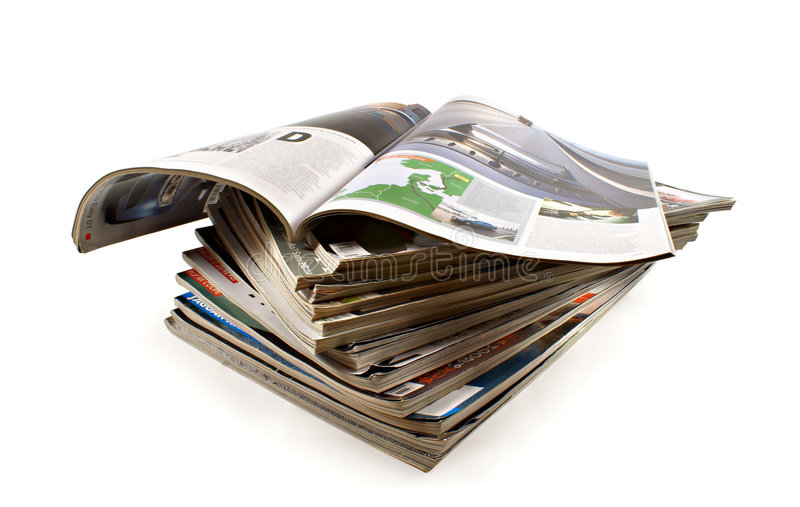Magazines. A cuople of different magazines royalty free stock images